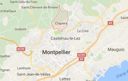 clapiers map